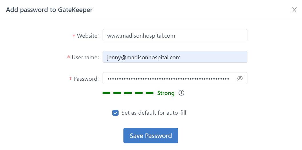 Adding_Password_-_Password_Manager_GateKeeper_Proximity_screenshot_madison_hospital_HIPAA_jenny_adding_password.jpg